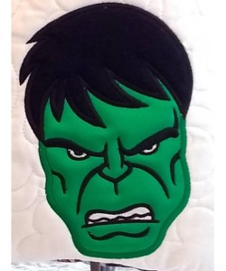 Hulk Face applique design