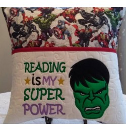 Hulk face with reading is my super power designs