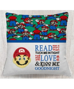 Mario applique with read me a story