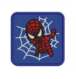 mug rug spiderman in the hoop