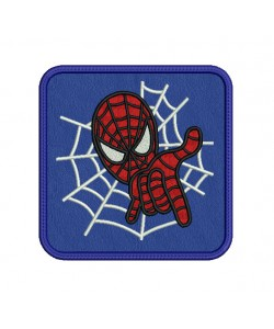 mug rug spiderman in the hoop