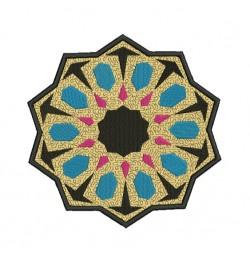 Mug rug Moroccan tiles in the hoop