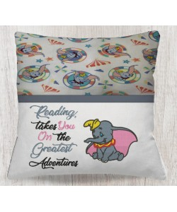 Dumbo with reading takes you reading pillow