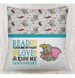 Dumbo with Read me a story Reading Pillow