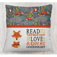 Fox with Read me a story embroidery