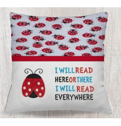 Ladybug applique with i will read