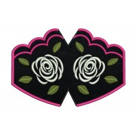 Face Mask Rose Embroidery Design For kids and adult in the hoop
