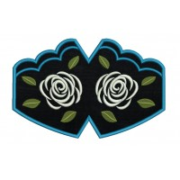 Face Mask Rose v3 Embroidery Design For kids and adult in the hoop