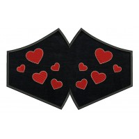 Face Mask Hearts Embroidery Design For kids and adult in the hoop