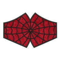 face mask spiderman Embroidery Design For kids and adult in the hoop