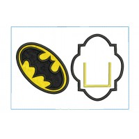Batman Tooth Pillow ITH embroidery Design 2 Sizes