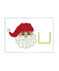 Santa Tooth Pillow ITH embroidery Design 2 Sizes