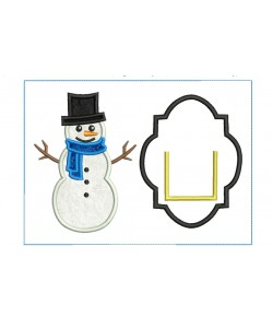Snowman Tooth Pillow ITH embroidery Design 2 Sizes