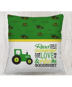 Tractor embroidery with read me a story