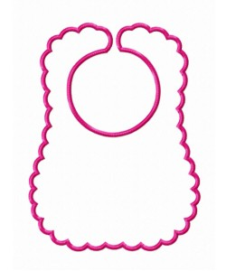 Baby bibs in the hoop embroidery
