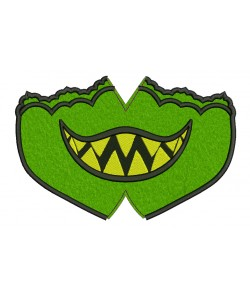Face mask monster For kids and adult in the hoop