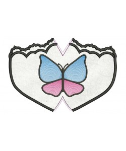 Face mask butterfly For kids and adult in the hoop