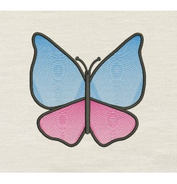 Butterfly line Embroidery