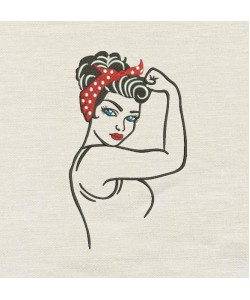 Rosie The Riveter Embroidery