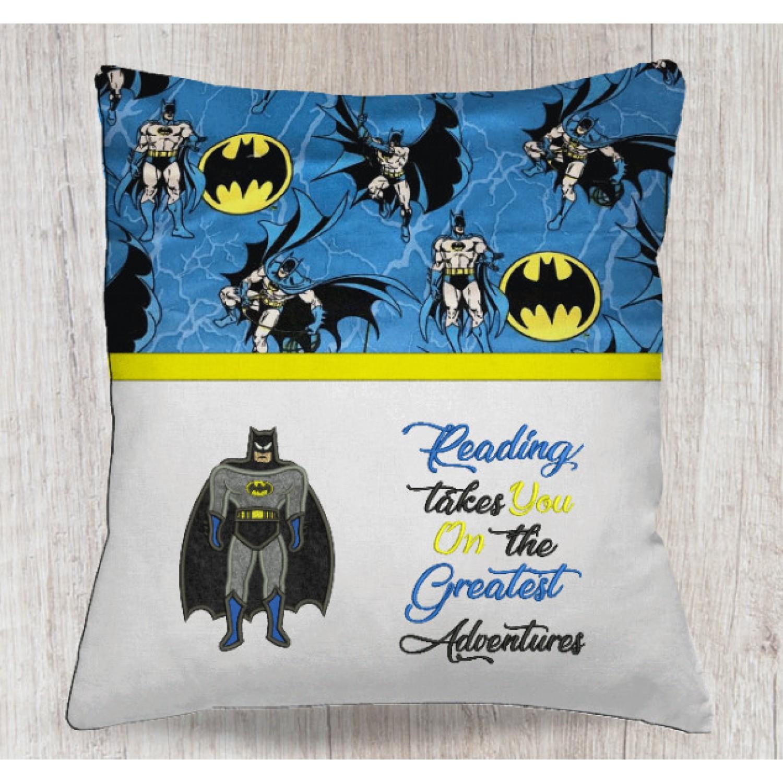Batman applique with reading takes you