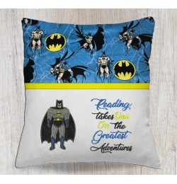Batman applique with reading takes you