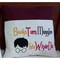 Books turn harry potter embroidery