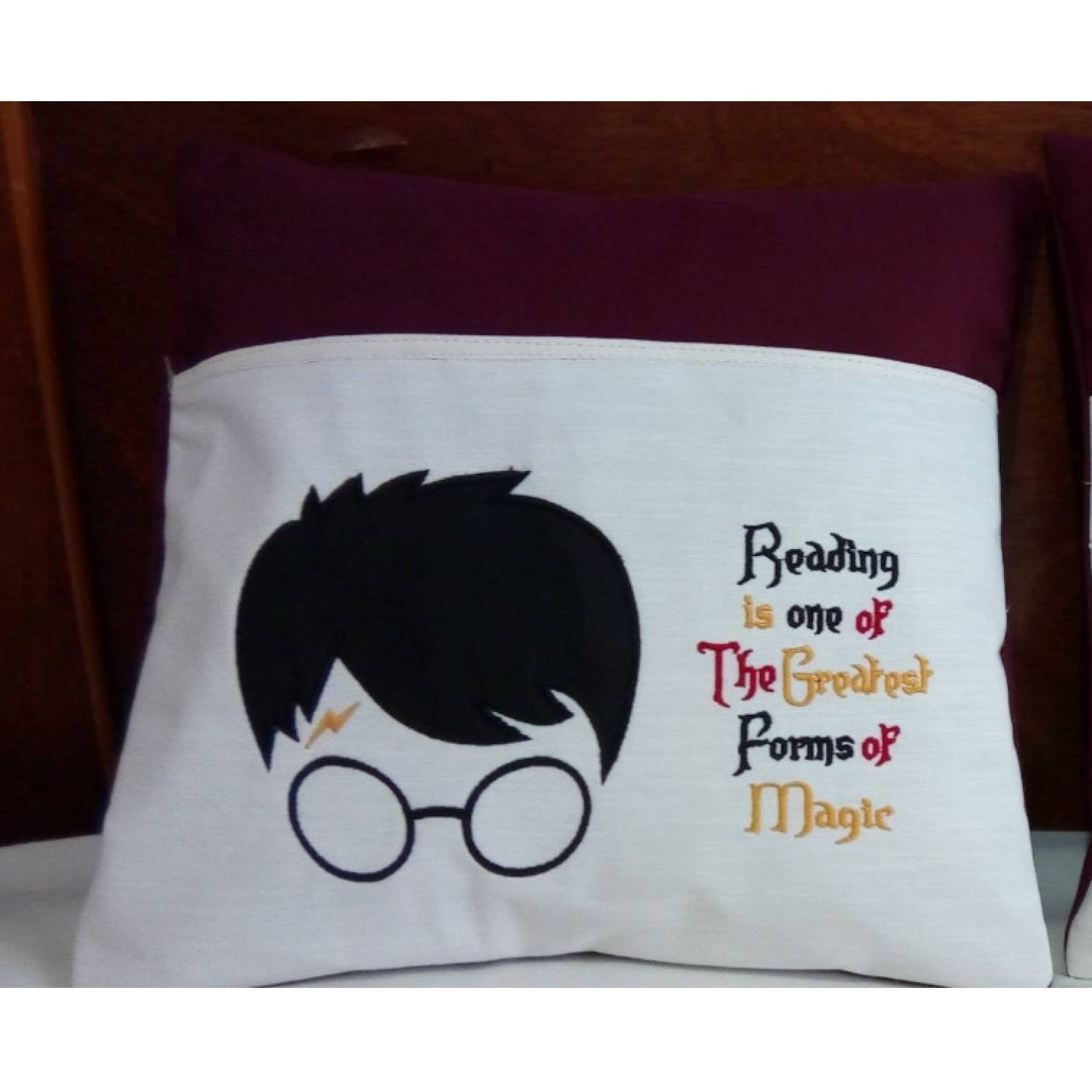 Harry Potter Face with Reading is one designs embroidery