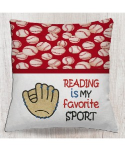 Baseball Glove with reading is my favorite sport