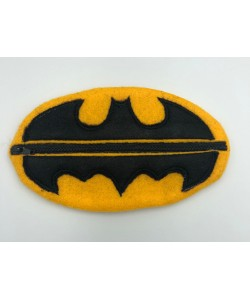 Zipper bag batman ITH in the hoop