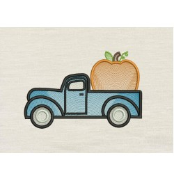 Pumpkin Truck Embroidery