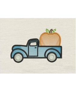 Pumpkin Truck Embroidery