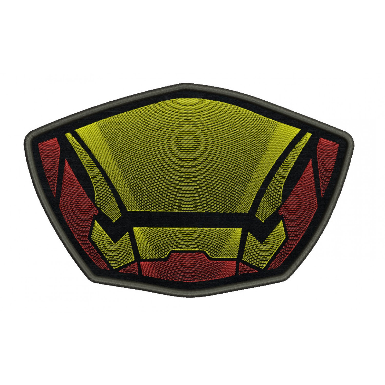 Face mask Iron man For kids and adult in the hoop