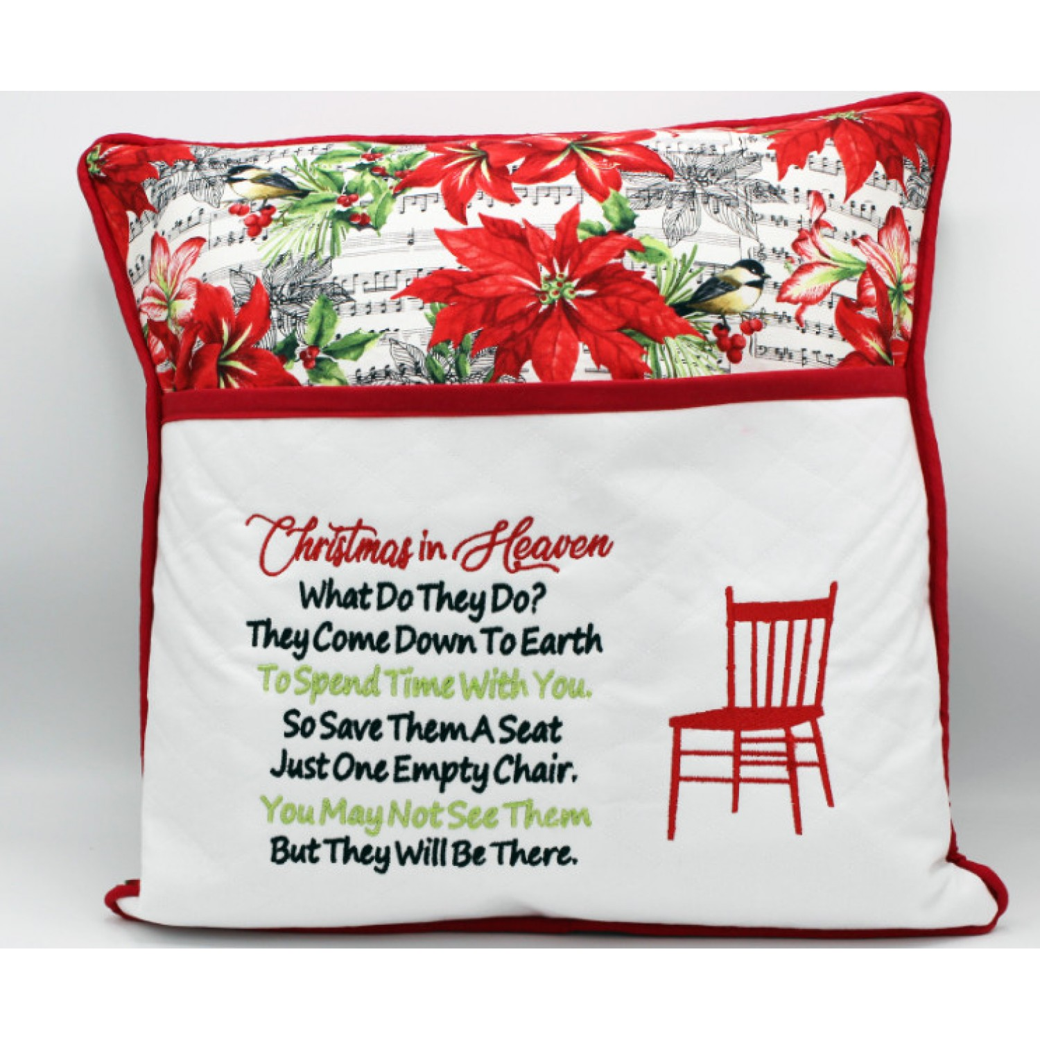 Christmas in Heaven with Chair embroidery