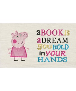 Peppa Pig with a book is a dream