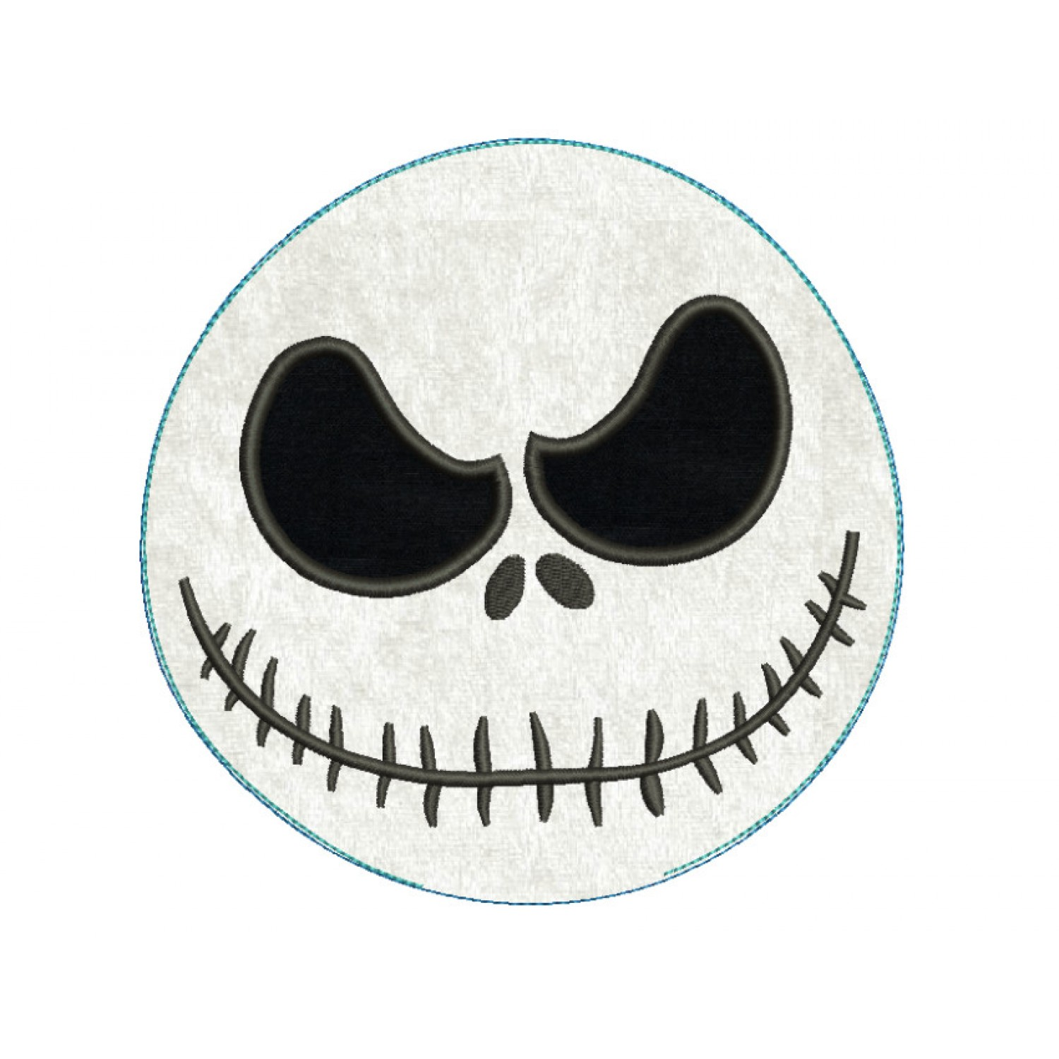 jack skellington pillow ITH in the hoop