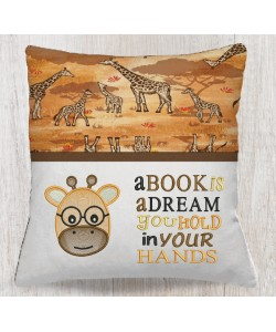 Giraffe Face embroidery A book is a dream