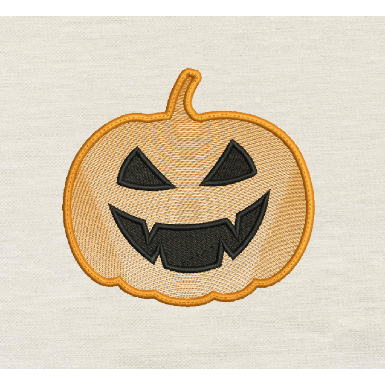 Pumpkin line embroidery