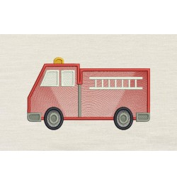 Fire Truck Embroidery