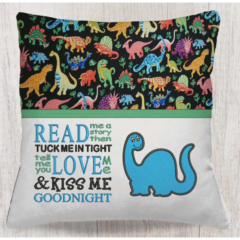 Dinosaur mog applique with Read me a story