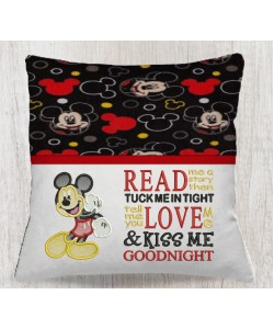 Mickey mouse embroidery with read me a story