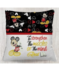 Mickey mouse embroidery with To strengthen