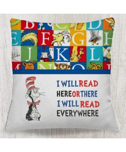 The cat in the hat with i will read