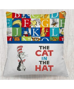 The cat in the hat reading pillow