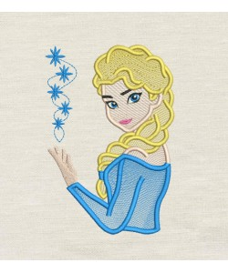 Elsa Frozen Embroidery