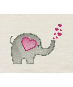 Elephant Hearts embroidery
