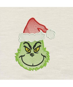 Grinch christmas embroidery
