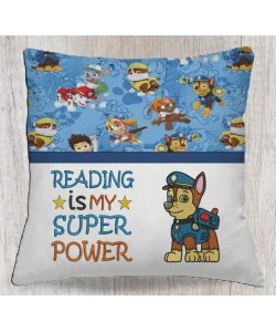 Chase Paw Patrol with reading is my super power