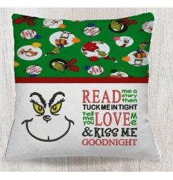 Grinch eyes with read me a story