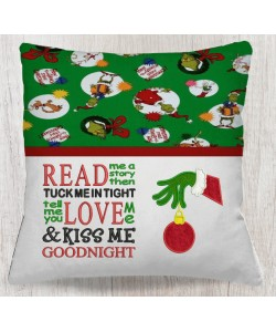 Grinch Hand ornament with read me a story