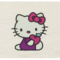 Hello Kitty embroidery
